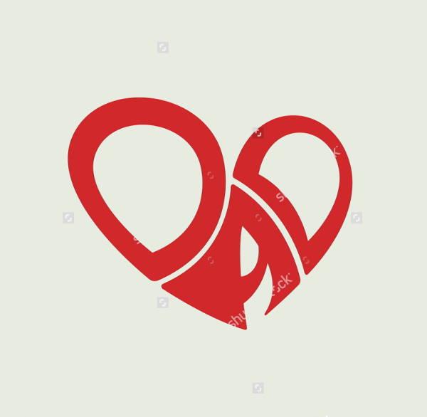 love typography logo design