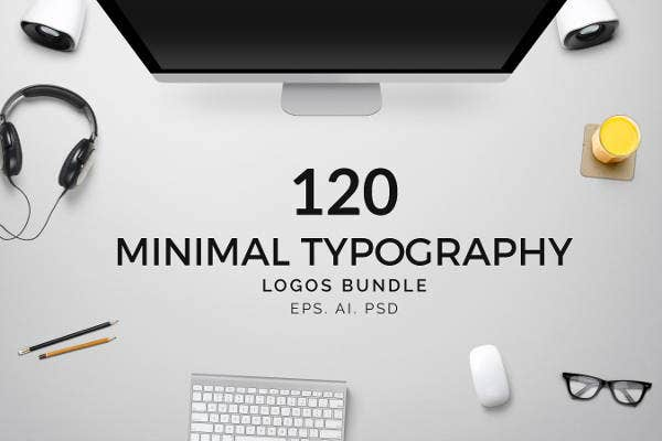 minimal typography logo bundle