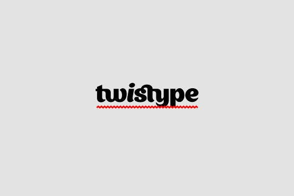 twisted typography logo