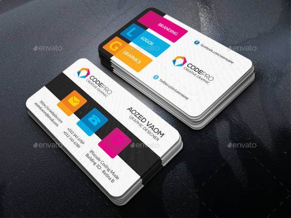 colorful business cards 10 free psd vector ai eps format