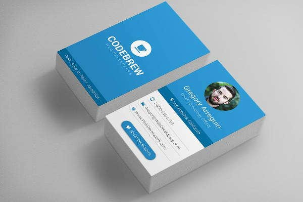 colorful material design business cards
