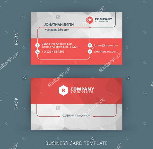 red-business-card-template