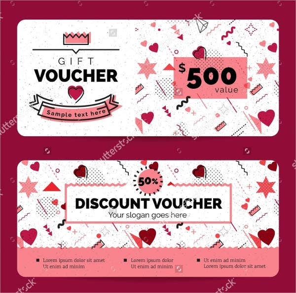 happy valentines voucher coupon discount