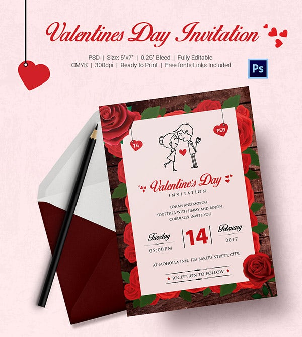 valentines day invitation 3 6001