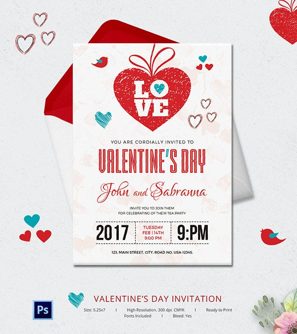 valentines day invitation 4 6001