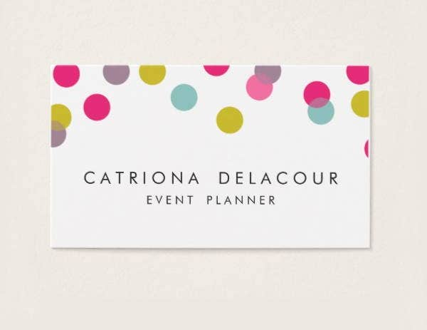 colorful confetti dots modern business card