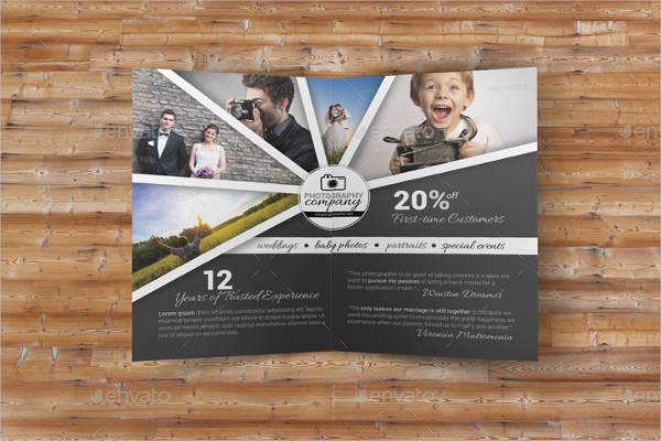 bifold photography business brochure
