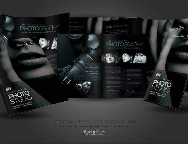 7 photography business brochures designs templates for Photography brochure templates free