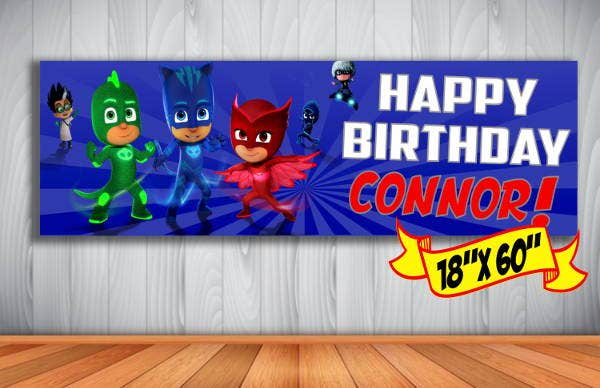 personalized outdoor birthday banner