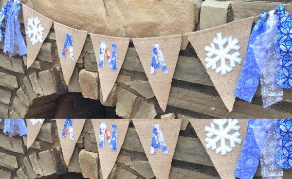 outdoor frozen birthday banner