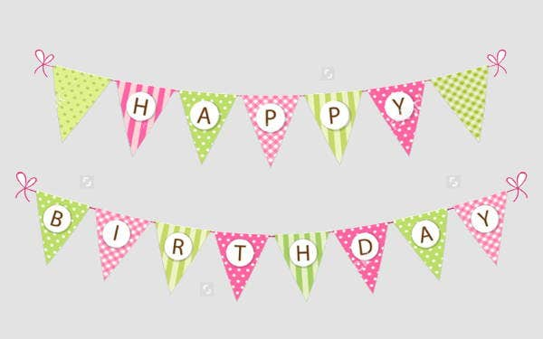 vintage outdoor birthday banner