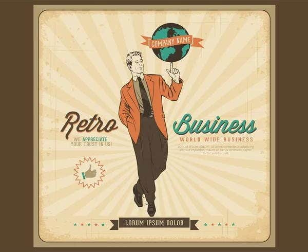 free-vector-retro-business-poster