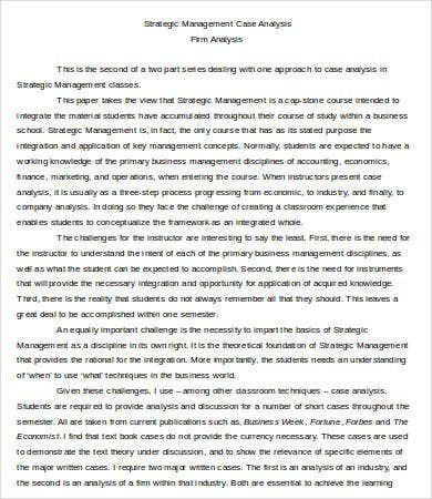Case Analysis Templates   Free Word Pdf Format Download  Free