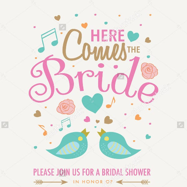 bridal shower invitation wording banner