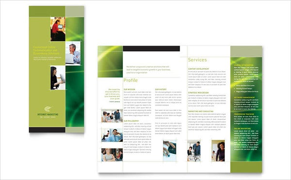 marketing and advertising tri fold brochure