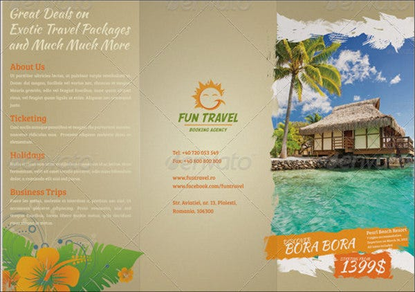 fun travel business brochure1