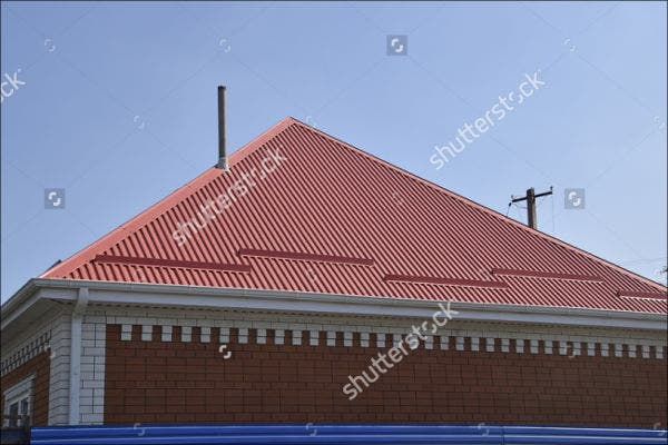 red metal roof texture2