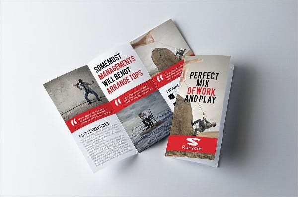 Business Advertising Tri-fold Brochure