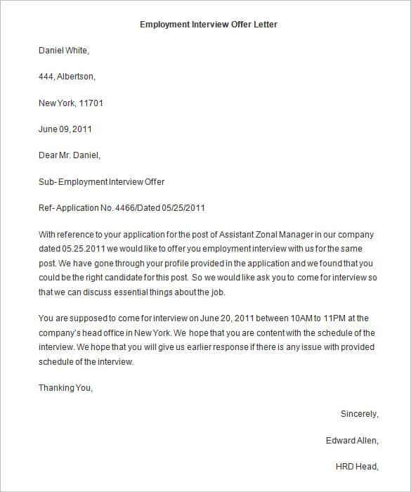 Offer Letter Template 62 Free Word PDF Format Free Premium