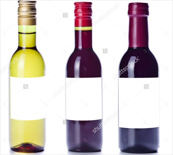 Small Wine Bottle Label Template