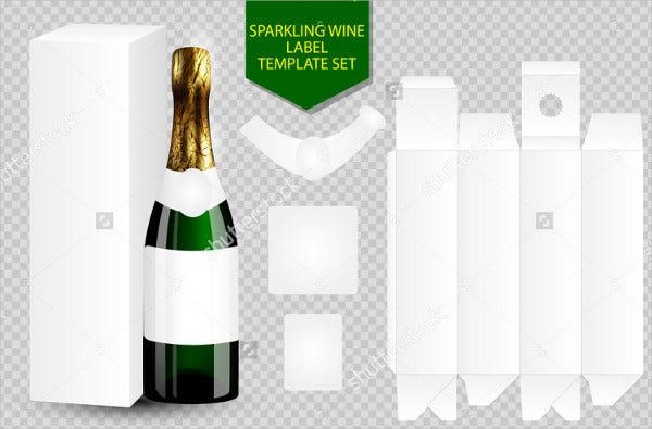 Blank Wine Bottle Label Template