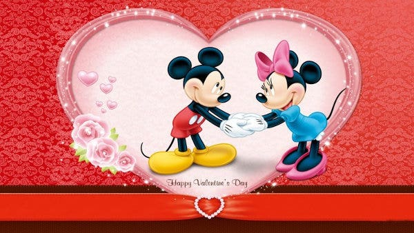 disney valentines day facebook cover