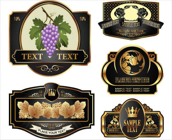 Printable Wine Bottle Label Template