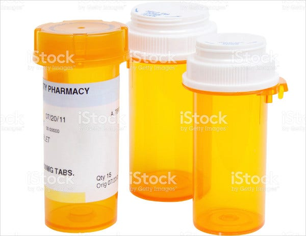 Printable Pill Bottle Label Template