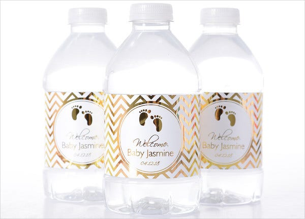 Printable Baby Shower Water Bottle Label Template