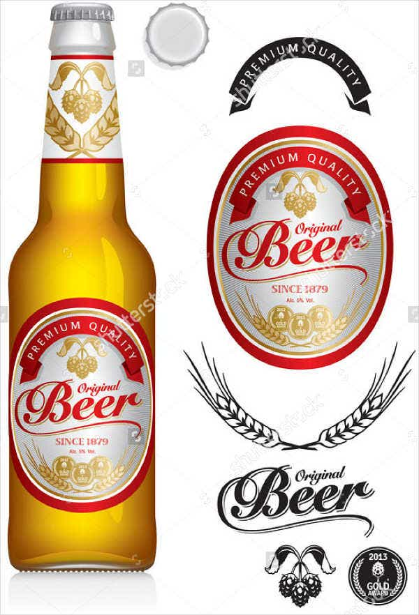 7 beer bottle label templates design templates free premium