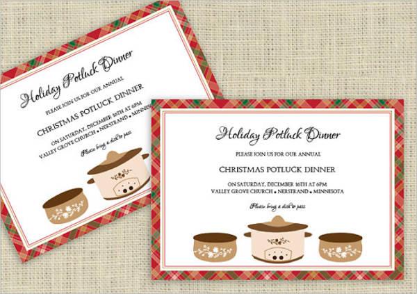 7 Potluck Party Invitations Designs Templates – Potluck Christmas Party Invitations