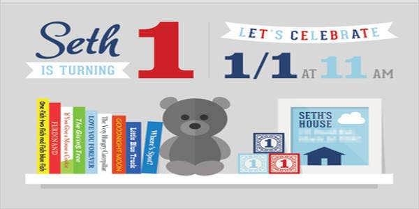 First Birthday Party Banner