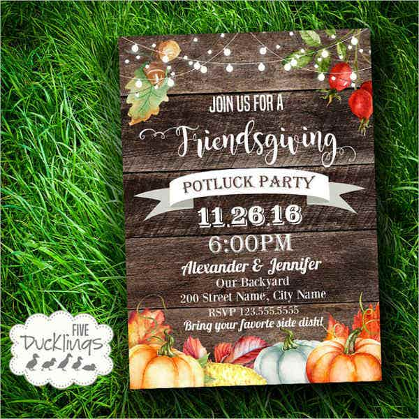 10  potluck party invitations