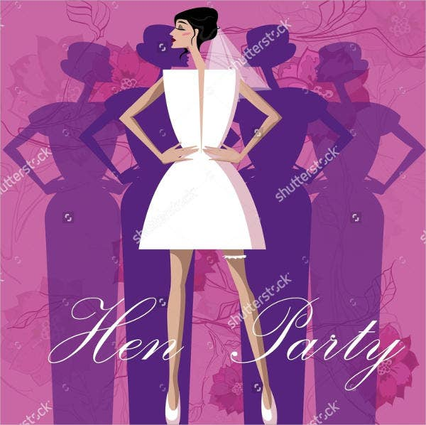 personalized hen party invitation