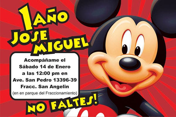 free printable mickey mouse photo invitation