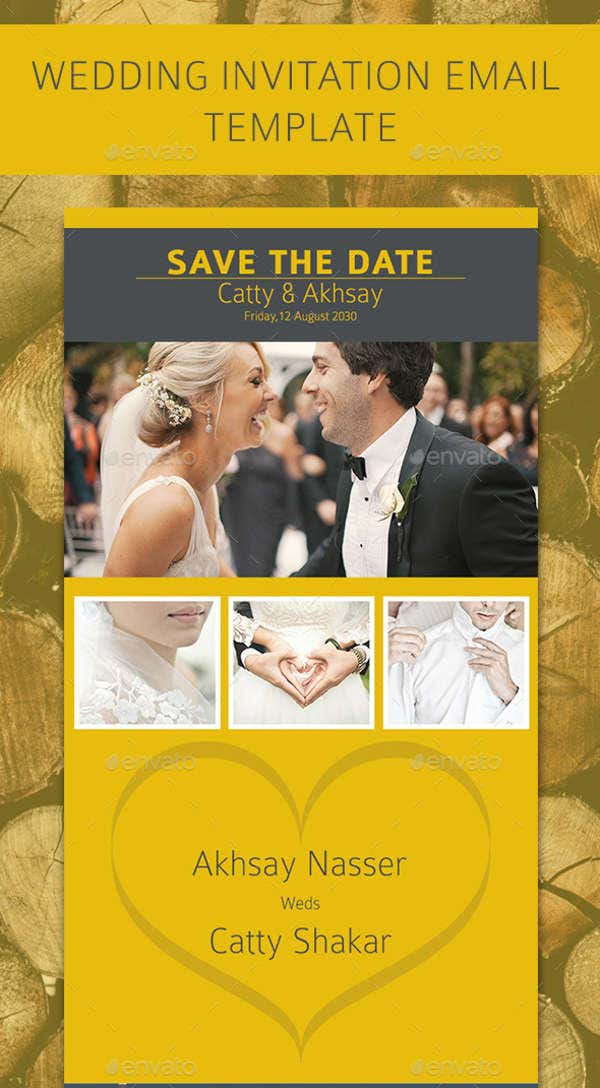 Wedding Email Invitation Card Template