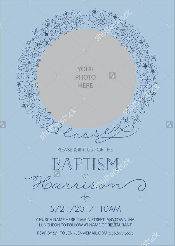 Personalized Christening Photo Invitation
