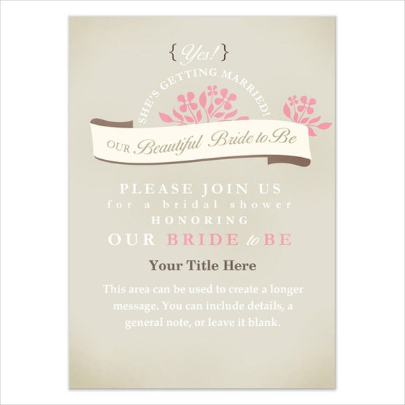 floral invitation banner for bridal shower