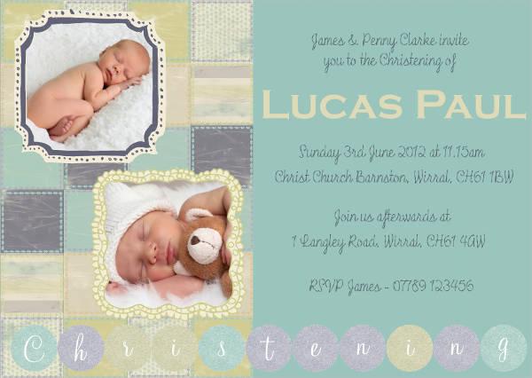 free printable christening photo invitation