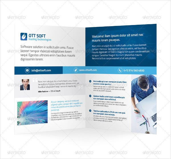 Software Company Brochures  Editable Psd Ai Vector Eps Format