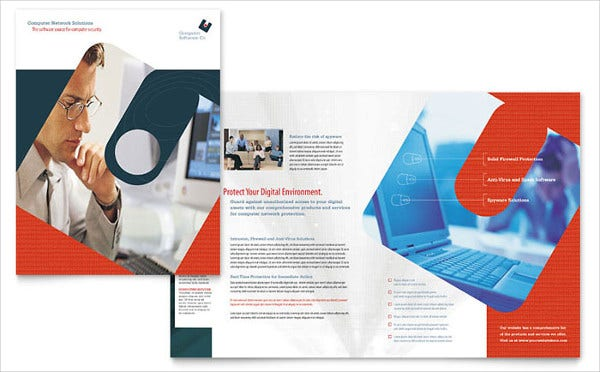 Computer Software Company Brochure