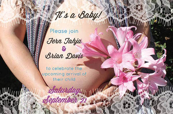 Printable Baby Shower Photo Invitation
