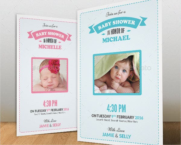 Girl Baby Shower Photo Invitation