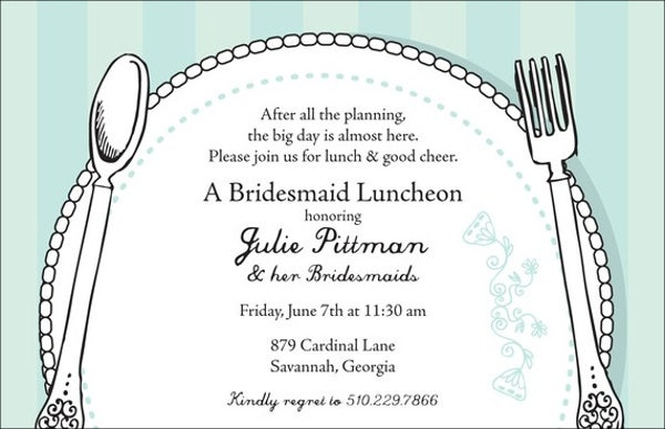 formal lunch party invitation