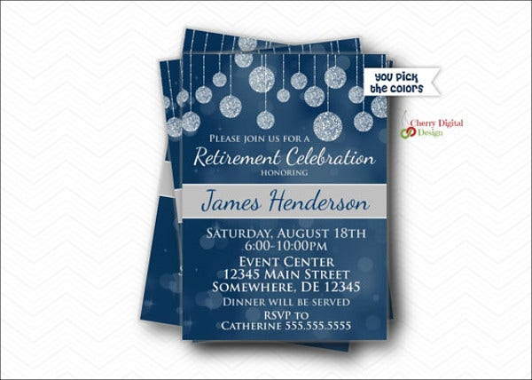 retirement formal party invitation