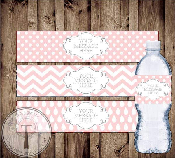 blank water bottle label template