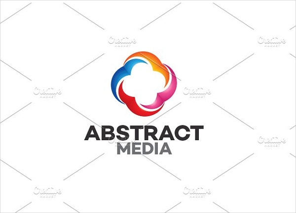 abstract business media logo