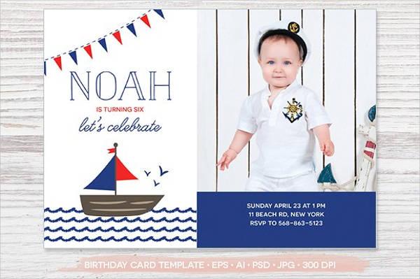 birthday photo party invitation