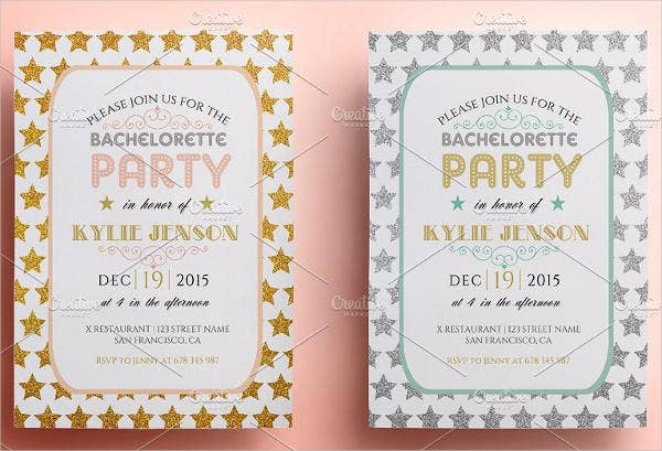 hen bachelorette party invitation