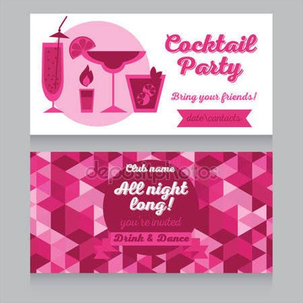 hen cocktail party invitation